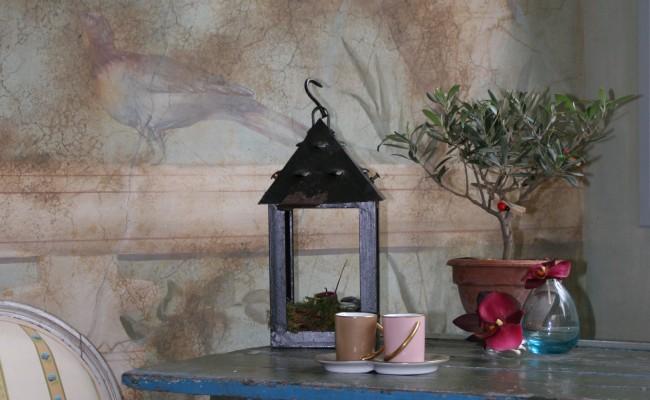 Fresque Pompéi sur fond en matière