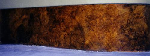 fresque faux bois