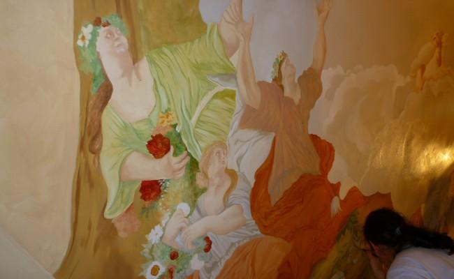 Décoration plafond peint